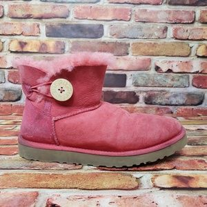 UGG Mini Bailey Button Short Pink Boots